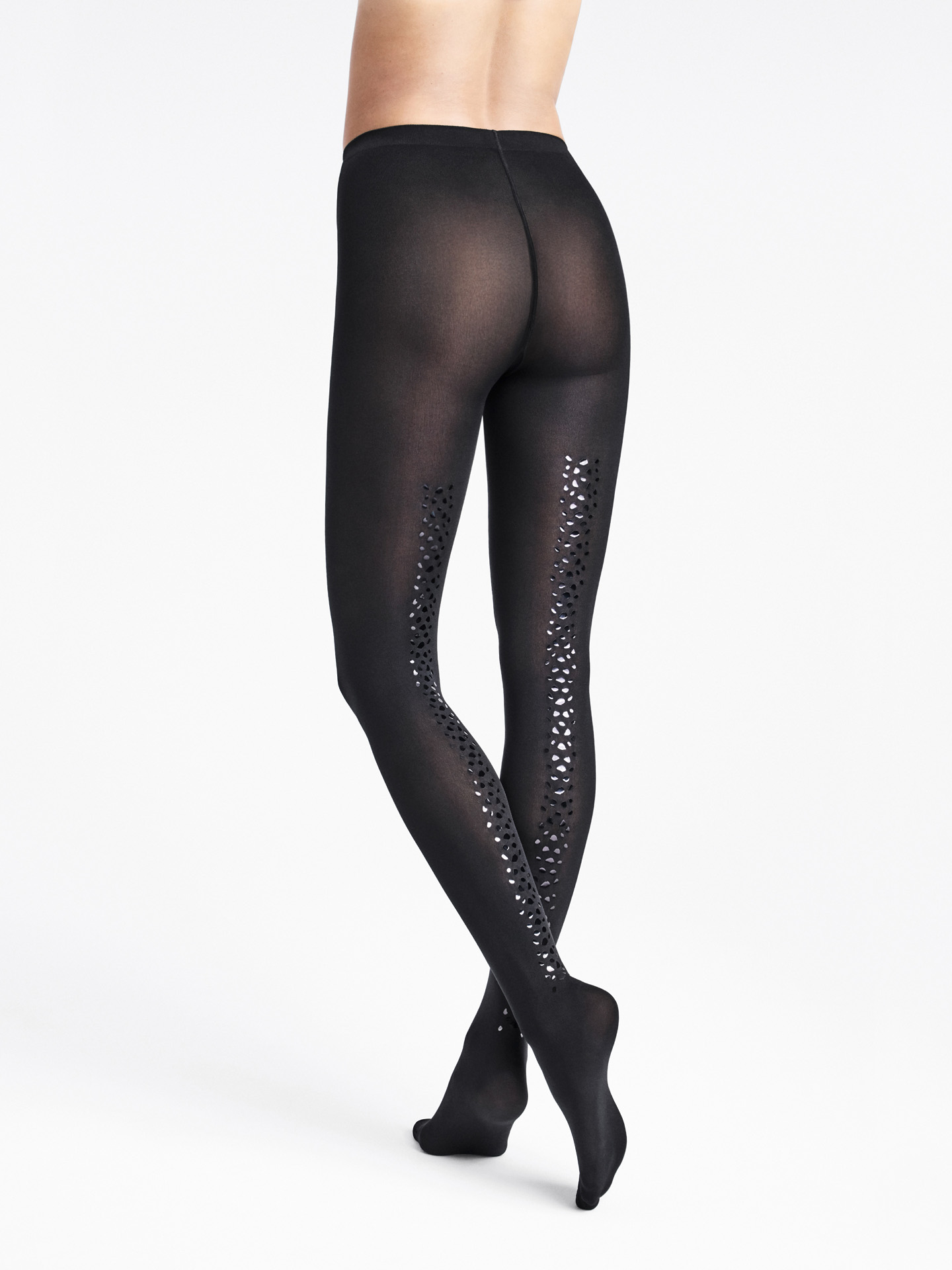 Snake Shimmer Back Seam Tights