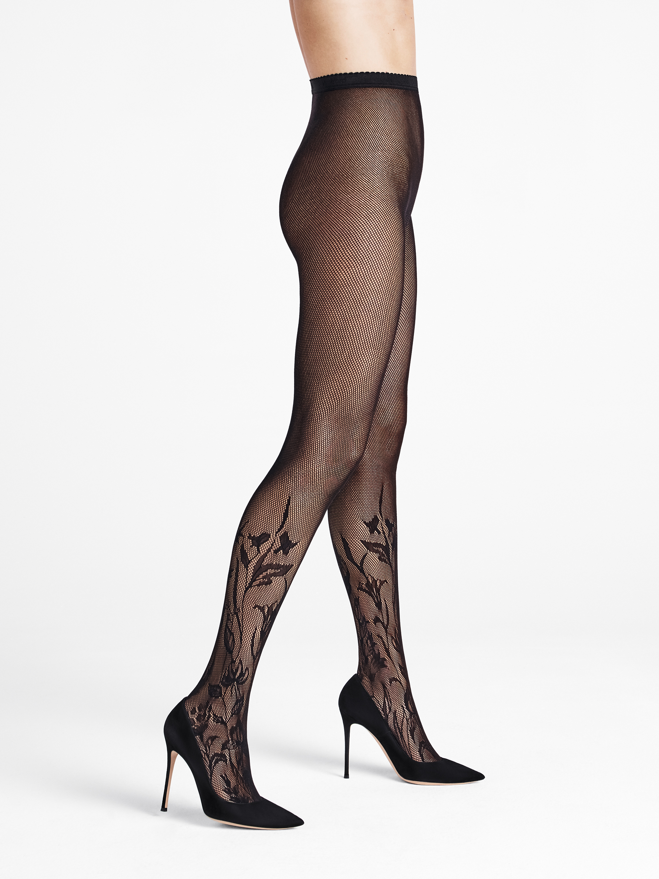 Wildflower Net Tights - 7005 - L | Sportbekleidung > Sporthosen > Tights | Wolford