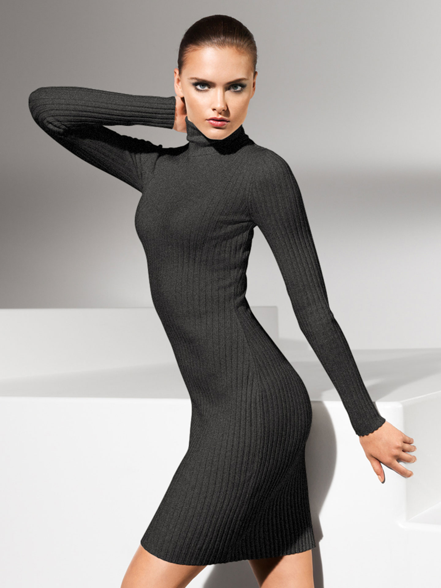 Kleider - Merino Rib Dress 8763 M  - Onlineshop Wolford