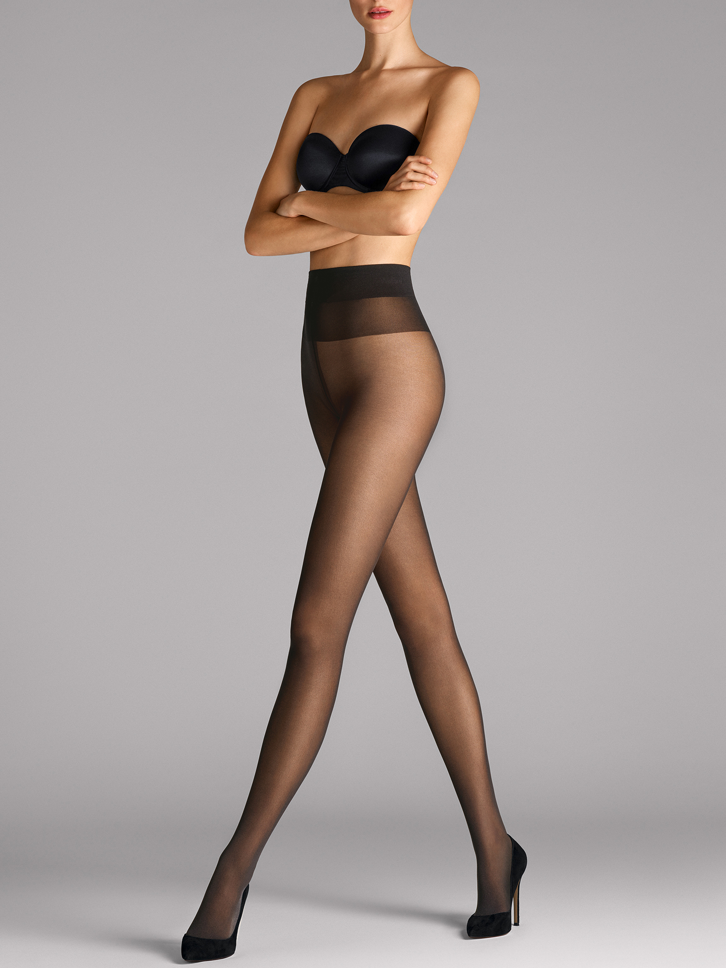 Comfort Cut 40 Tights - nearly black - XS | Sportbekleidung > Sporthosen > Tights | Wolford