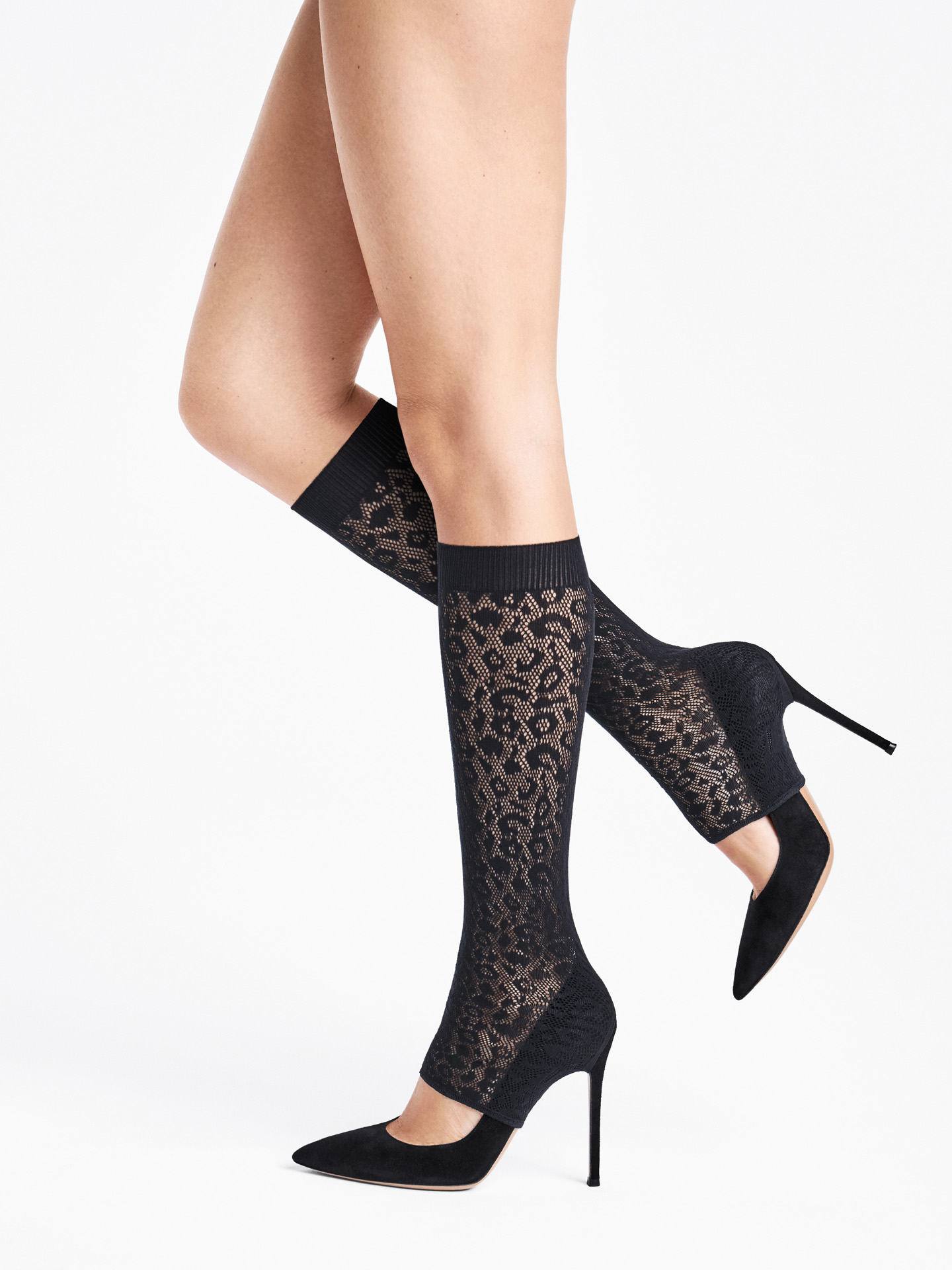 Cheetah Net Overheel Knee-High O