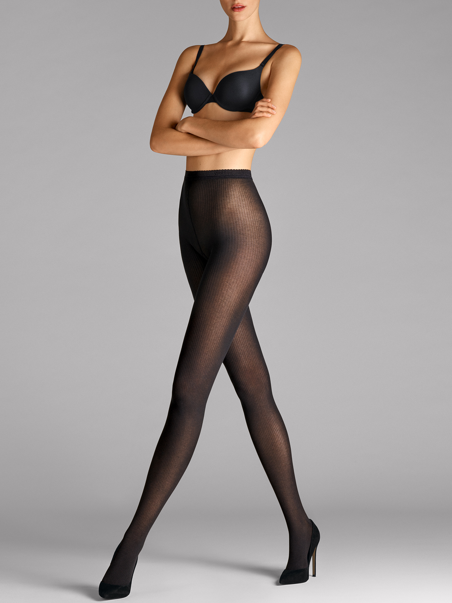 Superfine Cotton Rib Tights - 7005 - XS | Sportbekleidung > Sporthosen > Tights | Black | Wolford